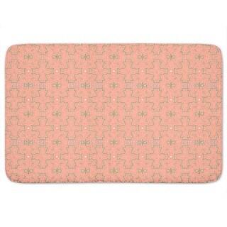 Shop Salmon Colored Crosses Bath Mat Free Shipping On