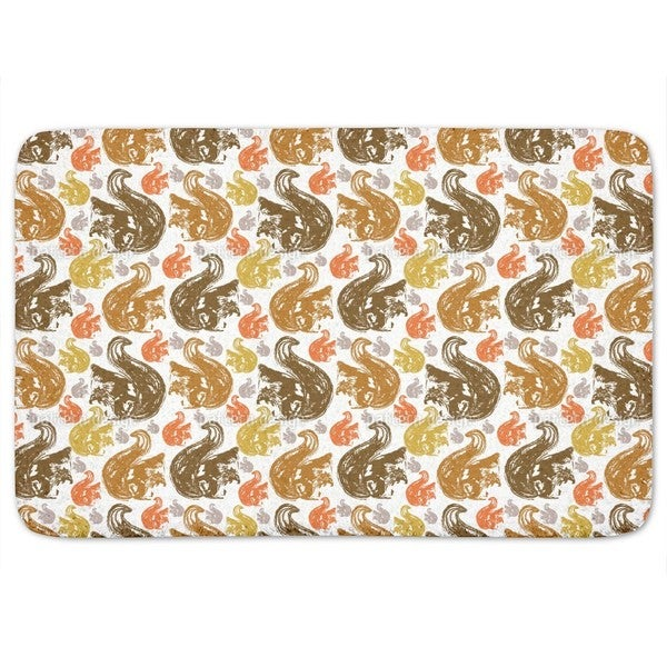 Squirrel Get Together Bath Mat