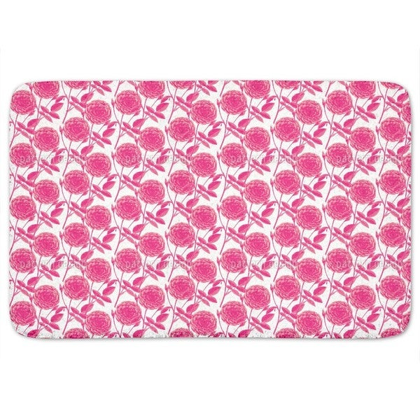 Roses In Full Bloom Bath Mat