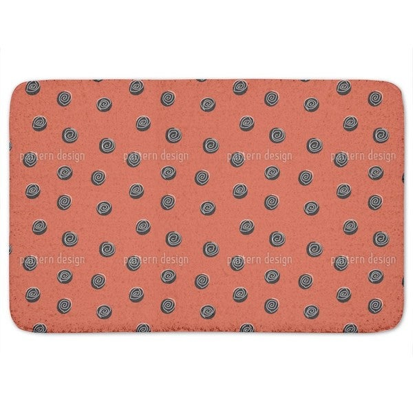 Squiggles On Dots Bath Mat