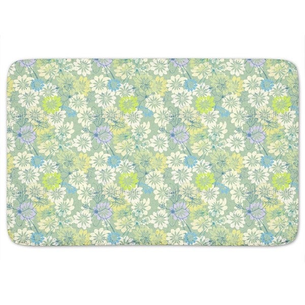 Spring Loves All The Flowers Bath Mat