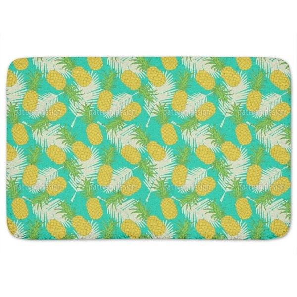 Shop Pineapple Tropicana Bath Mat Free Shipping On