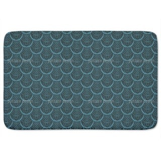 Peacock Feathers Deco Bath Mat