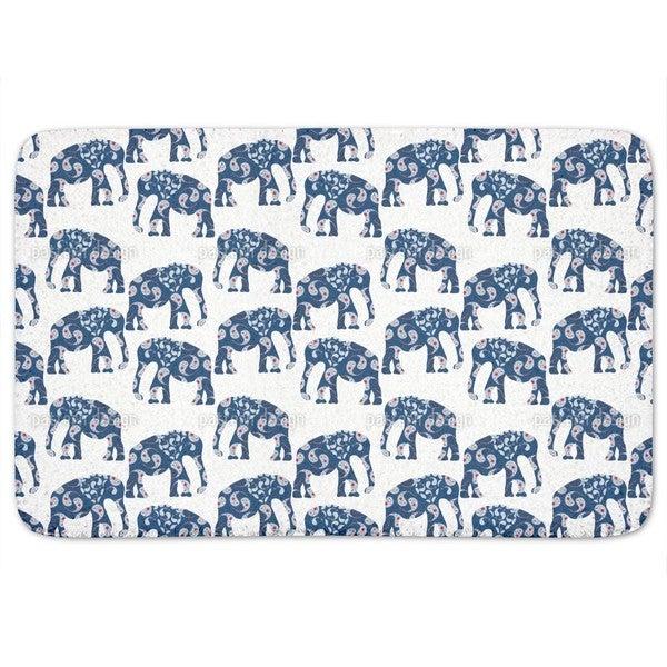 Patchwork Elephant Bath Mat