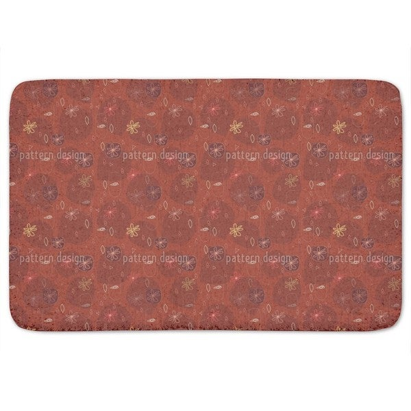 Party In Red Bath Mat
