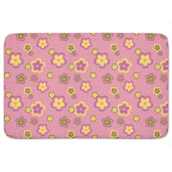 Party Flowers Of The Seventies Bath Mat