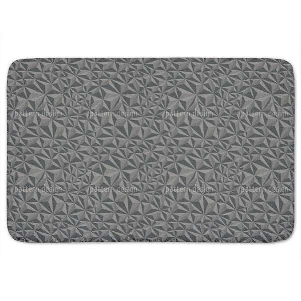 Paper Geometry Dark Grey Bath Mat