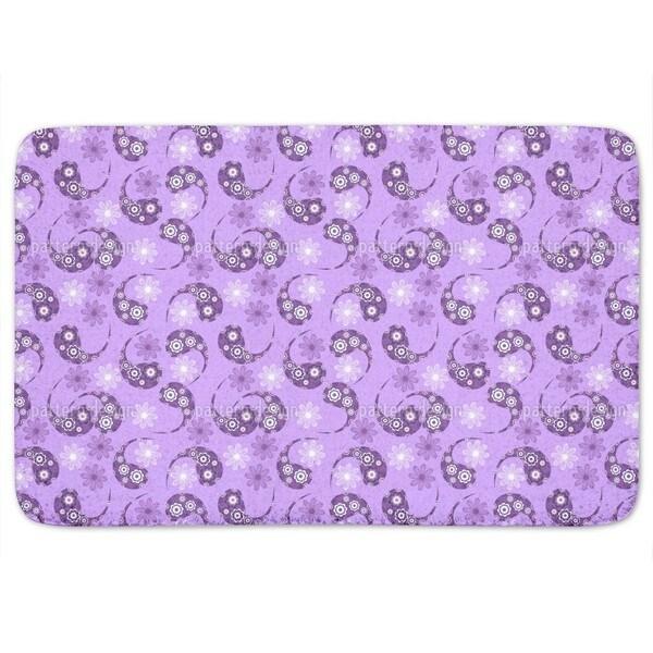 Paisley Meets Flower Bath Mat