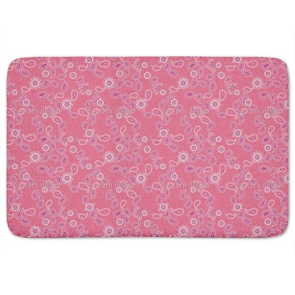 Paisley In Pink Bath Mat