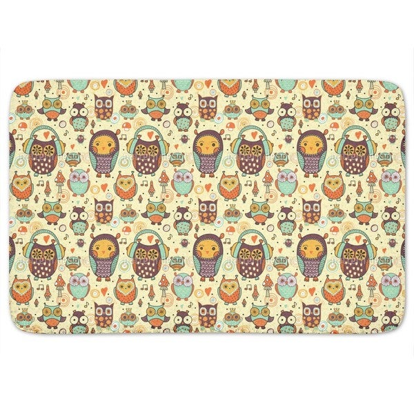 Owl Love Music Very Much Bath Mat