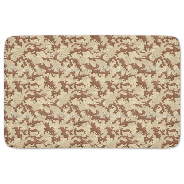 Old School Desert Camouflage Bath Mat
