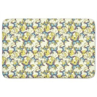 Ocean Of Flowers And Butterflies Bath Mat