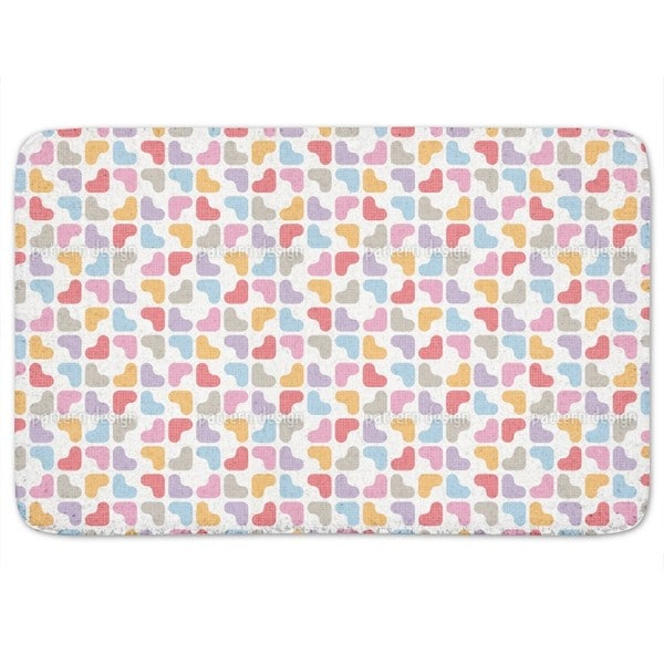Soft Hearts Bath Mat