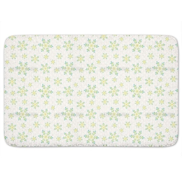 Snowfall In Spring Bath Mat