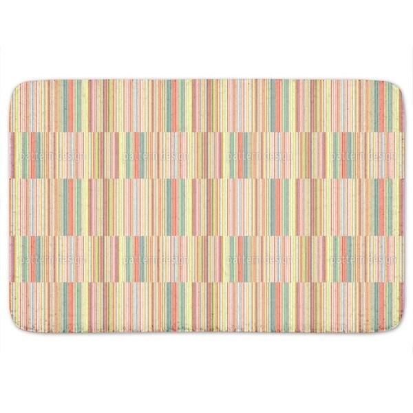 Multicolor Offset Stripes Bath Mat