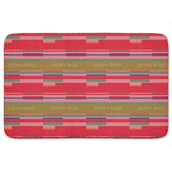 Red Stripes Bath Mat