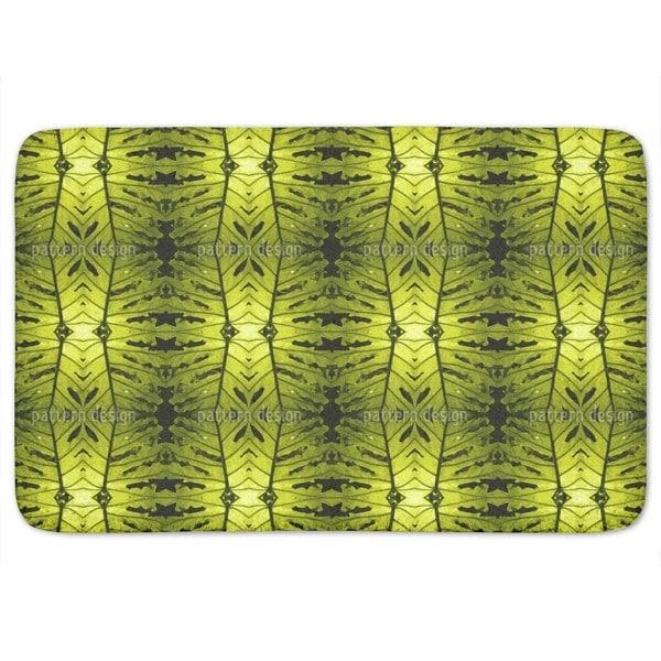 Monstera Green Bath Mat