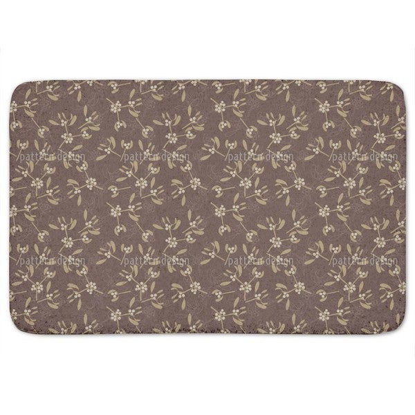 Mistletoe Brown Bath Mat