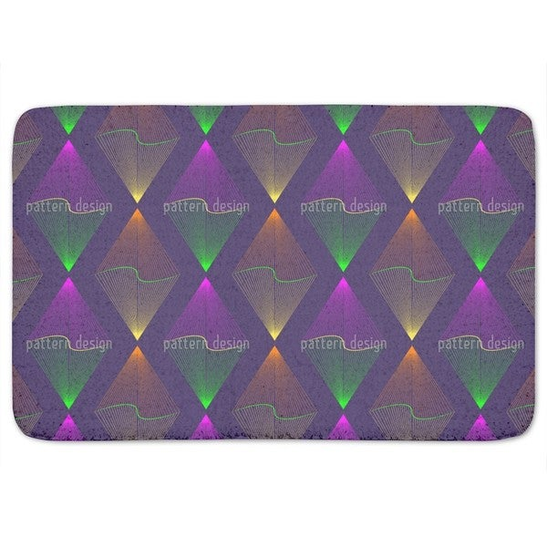 Purple Lanterns Bath Mat