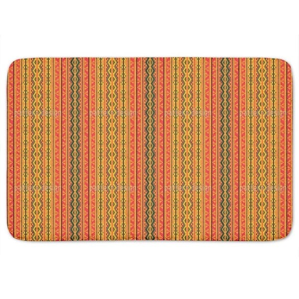 Poncho Is Wandering On Stripes Bath Mat