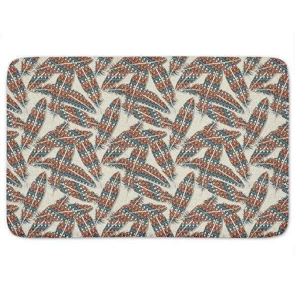 Indian Feathers Bath Mat