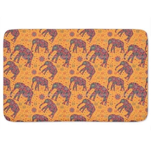 Indian Elephant Mountain Hike Bath Mat