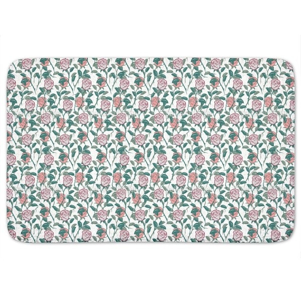 In The English Rose Garden Bath Mat