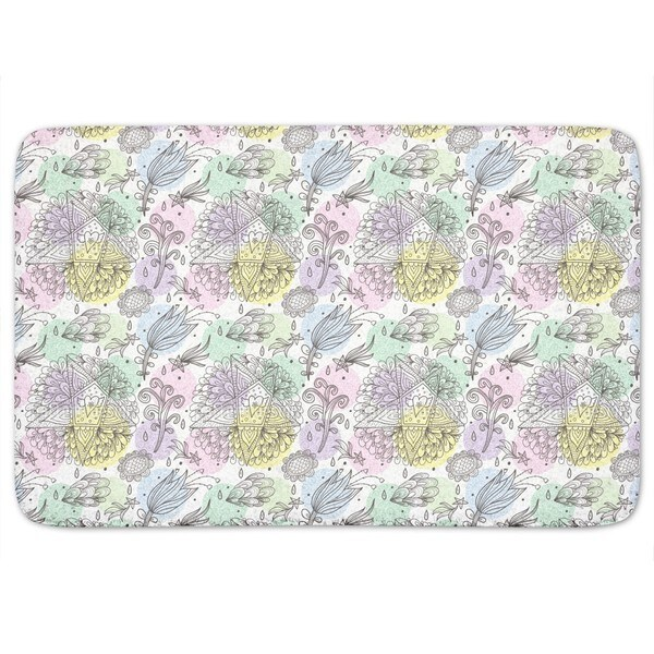 In Dreams I Send Stars And Flowers Bath Mat