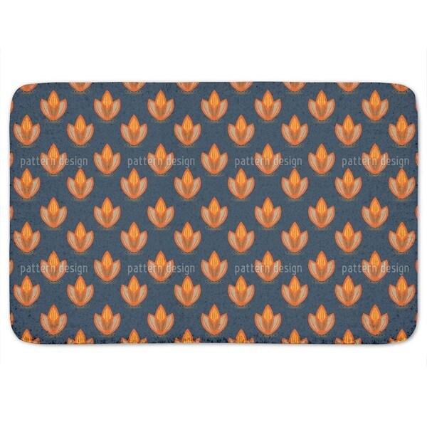Lotus Orange Bath Mat