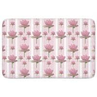 Lotus Flowers On Patrol Bath Mat
