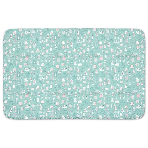 Little Monsters Need Love Too Bath Mat