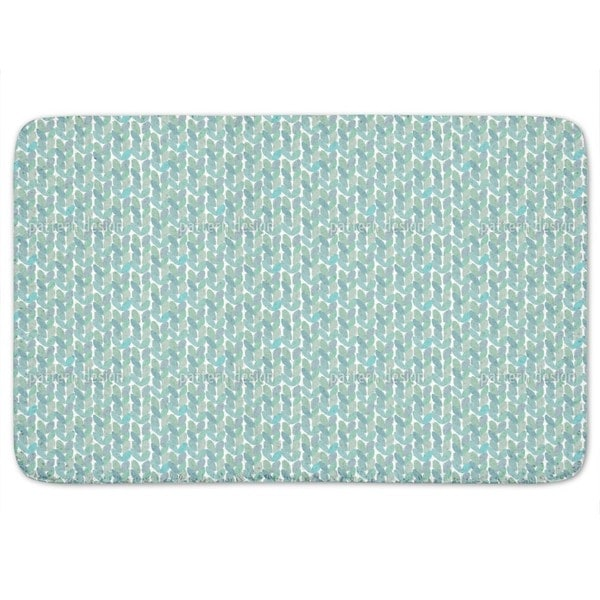 Little Leaves In A Row Bath Mat