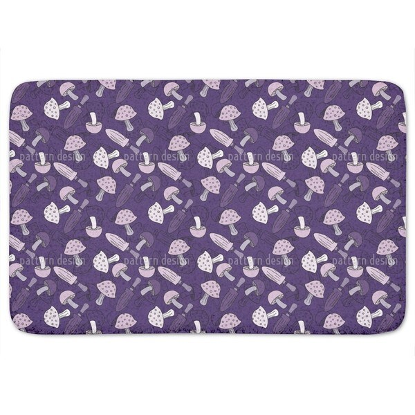 Lilac Mushroom Dream Bath Mat