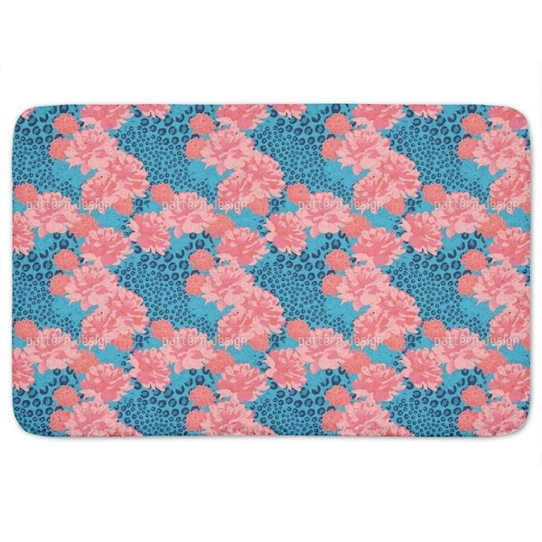Leopards Love Peonies Bath Mat
