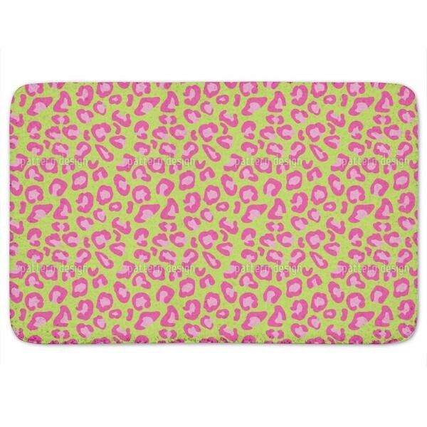 Leopard Animalprint Lime Bath Mat