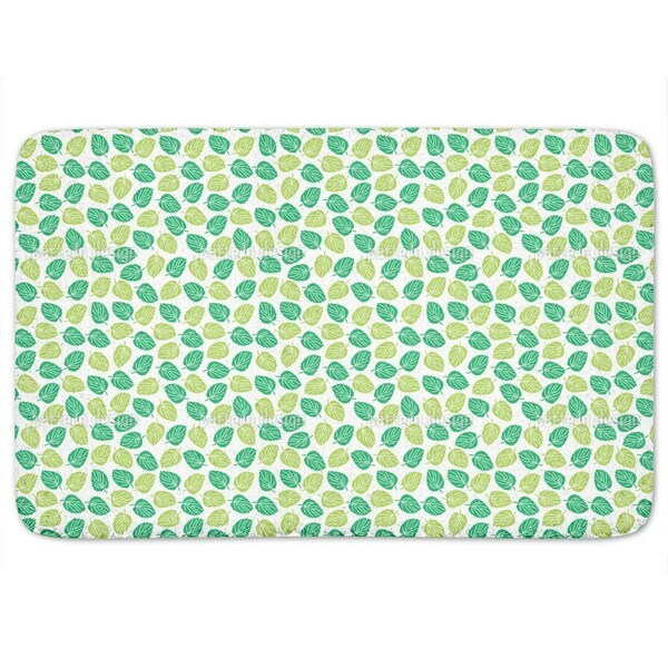 Leaves Of The Elm Tree Bath Mat