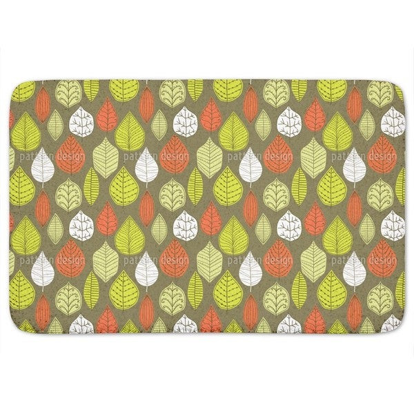 Leaves In Style Bath Mat