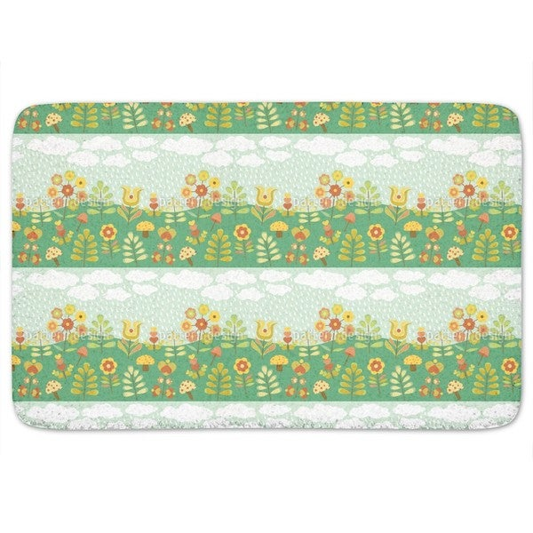 Late Summer Rain Bath Mat