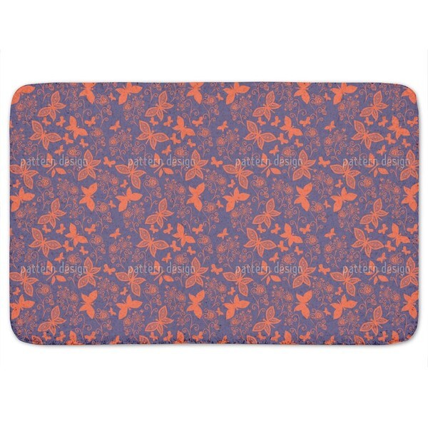 Late Butterfly Romance Bath Mat