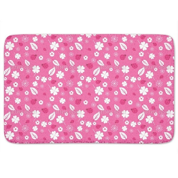 Ladybugs And Clover Bath Mat