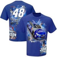 2015 Jimmie Johnson #48 Lowes Hot Wired Blue Cotton Tee Shirt