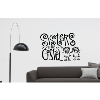 Merry sisters Wall Art Sticker Decal