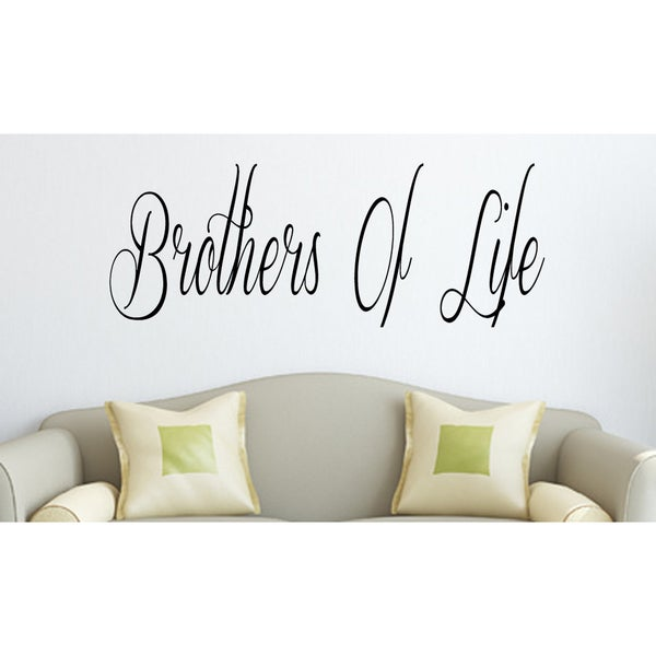 Caption about brother Wall Art Sticker Decal - Free Shipping On ...