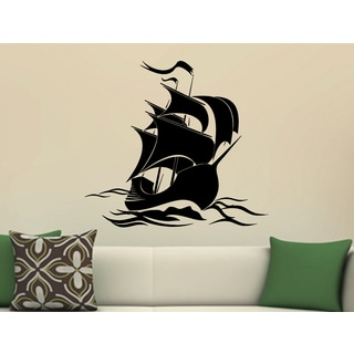 The ship set sail on the waves Wall Art Sticker Decal