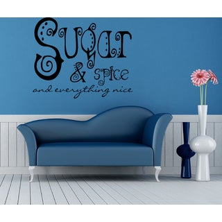 Sugar and Spice and Everything Nice quote Wall Art Sticker Decal