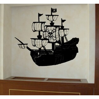 Pirate ship and skull Wall Art Sticker Decal
