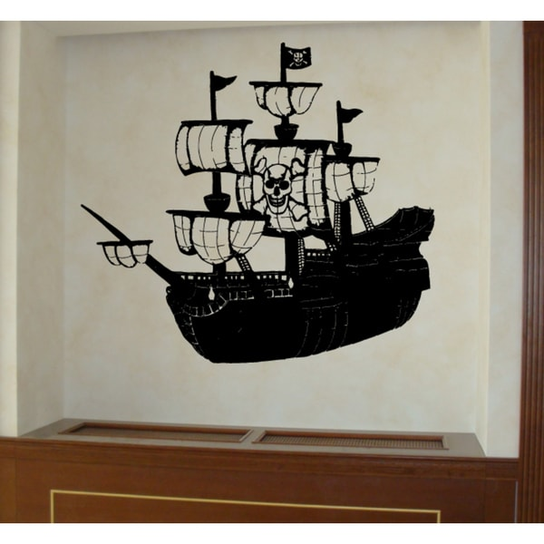 Shop Pirate ship and skull Wall Art Sticker Decal - Free Shipping On ...
