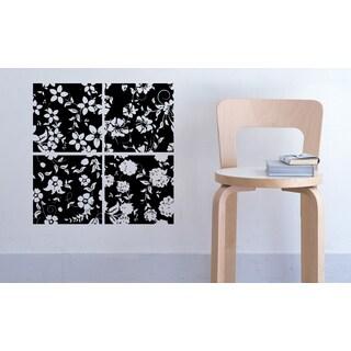 Flowers Pattern Wall Art Sticker Decal