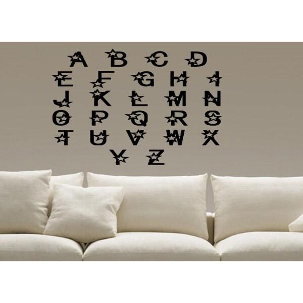 As Seen In HGTV Magazine - Alphabet Letters Wall Art Sticker Decal ...