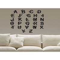 As Seen In HGTV Magazine - Alphabet Letters Wall Art Sticker Decal